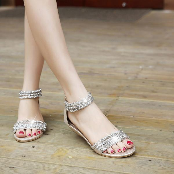 Ulass Diamond Design Boho Flat Fashion Sandals ST-095