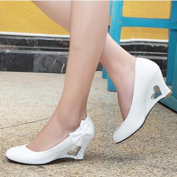 Ulass Cordate high heels Bowknot