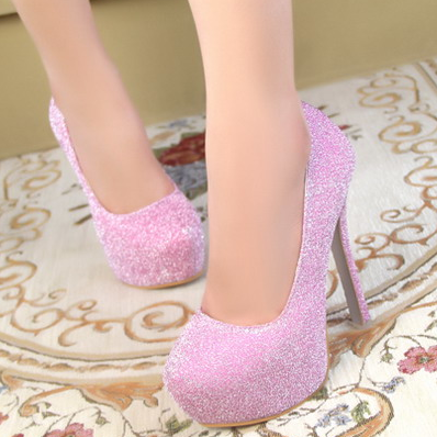 Ulass Sexy high-heeled shoes fashion shoes shiny