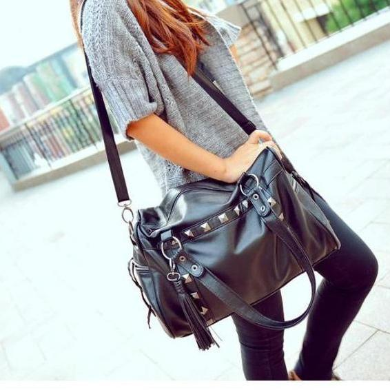 Ulass Fashion Rivets Nice Shoulder Bag-BB-24