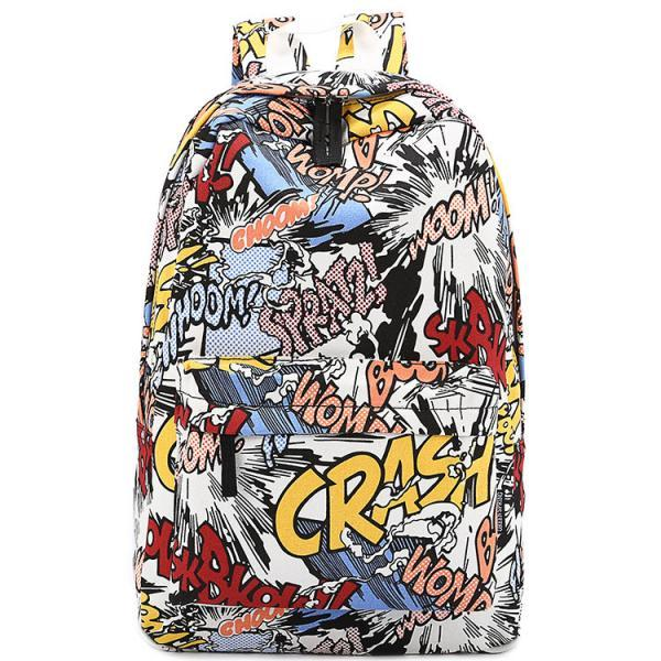 Ulass Harajuku Unique Graffiti Cartoon Backpack-BB-27