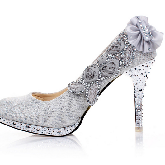 Ulass Wedding Shoes Diamond Princess Wedding shoes high-heeled 8CM shoes high heels