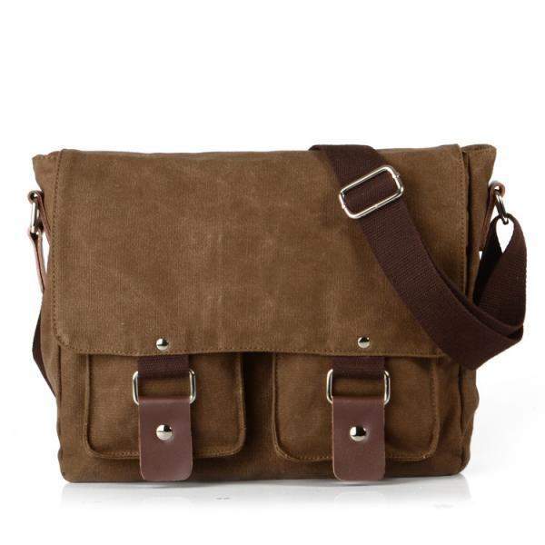 Ulass Soild Canvas Shoulder Bag BB-34