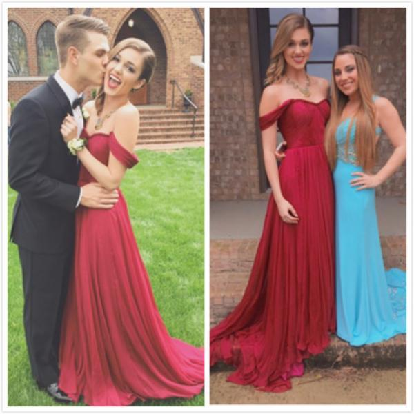 Ulass Sexy Custom Made Formal Evening Gowns Custom Made Off Shoulder Dark Red Long Prom Dresses, Long Evening Dresses, Formal Dresses